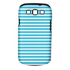 Horizontal Stripes Blue Samsung Galaxy S Iii Classic Hardshell Case (pc+silicone) by Mariart