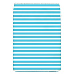 Horizontal Stripes Blue Flap Covers (l)  by Mariart