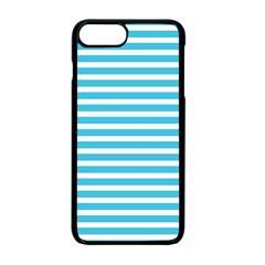 Horizontal Stripes Blue Apple Iphone 7 Plus Seamless Case (black) by Mariart