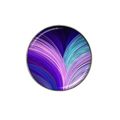 Color Purple Blue Pink Hat Clip Ball Marker by Mariart