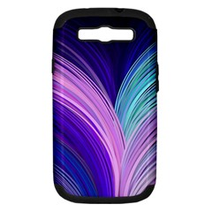 Color Purple Blue Pink Samsung Galaxy S Iii Hardshell Case (pc+silicone) by Mariart