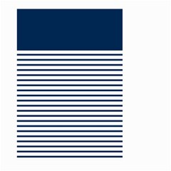 Horizontal Stripes Blue White Line Large Garden Flag (two Sides) by Mariart