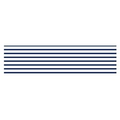 Horizontal Stripes Blue White Line Satin Scarf (oblong) by Mariart