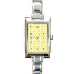 Yellow Orange Star Space Light Rectangle Italian Charm Watch by Mariart