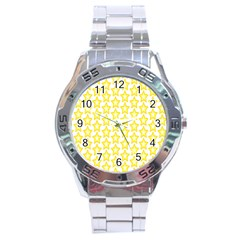 Yellow Orange Star Space Light Stainless Steel Analogue Watch by Mariart