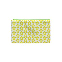 Yellow Orange Star Space Light Cosmetic Bag (xs) by Mariart