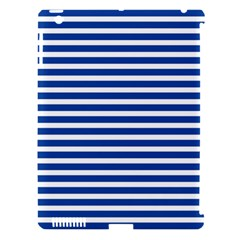 Horizontal Stripes Dark Blue Apple Ipad 3/4 Hardshell Case (compatible With Smart Cover) by Mariart