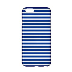 Horizontal Stripes Dark Blue Apple Iphone 6/6s Hardshell Case by Mariart