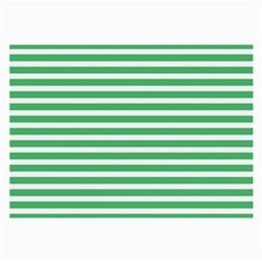 Horizontal Stripes Green Large Glasses Cloth (2 Side) by Mariart