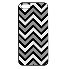 Zig Zags Pattern Apple Iphone 5 Seamless Case (black) by Valentinaart