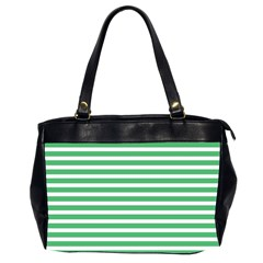 Horizontal Stripes Green Office Handbags (2 Sides)  by Mariart