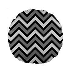 Zig Zags Pattern Standard 15  Premium Round Cushions by Valentinaart