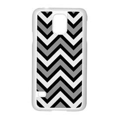 Zig Zags Pattern Samsung Galaxy S5 Case (white) by Valentinaart