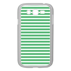 Horizontal Stripes Green Samsung Galaxy Grand Duos I9082 Case (white) by Mariart