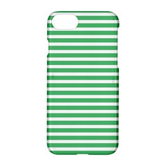 Horizontal Stripes Green Apple Iphone 7 Hardshell Case by Mariart