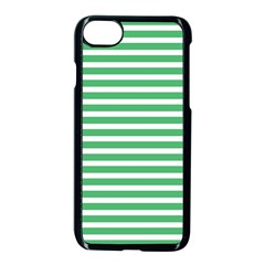 Horizontal Stripes Green Apple Iphone 7 Seamless Case (black) by Mariart
