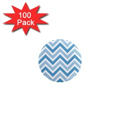 Zig Zags Pattern 1  Mini Magnets (100 Pack)  by Valentinaart