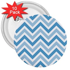 Zig Zags Pattern 3  Buttons (10 Pack)  by Valentinaart