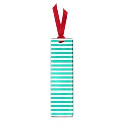 Horizontal Stripes Green Teal Small Book Marks by Mariart