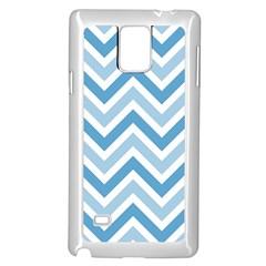 Zig Zags Pattern Samsung Galaxy Note 4 Case (white) by Valentinaart