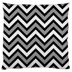 Zig Zags Pattern Large Flano Cushion Case (two Sides) by Valentinaart