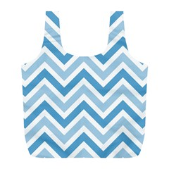 Zig Zags Pattern Full Print Recycle Bags (l)  by Valentinaart