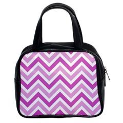 Zig Zags Pattern Classic Handbags (2 Sides) by Valentinaart
