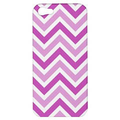 Zig Zags Pattern Apple Iphone 5 Hardshell Case by Valentinaart