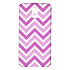 Zig Zags Pattern Samsung Galaxy S5 Back Case (white) by Valentinaart