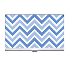 Zig Zags Pattern Business Card Holders by Valentinaart