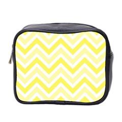 Zig Zags Pattern Mini Toiletries Bag 2 Side by Valentinaart