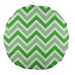Zig Zags Pattern Large 18  Premium Round Cushions by Valentinaart