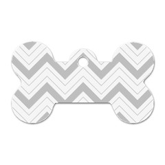 Zig Zags Pattern Dog Tag Bone (two Sides) by Valentinaart