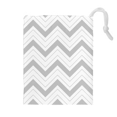 Zig Zags Pattern Drawstring Pouches (extra Large) by Valentinaart
