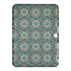 Decorative Ornamental Geometric Pattern Samsung Galaxy Tab 4 (10 1 ) Hardshell Case  by TastefulDesigns