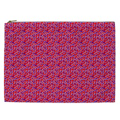 Red White And Blue Leopard Print  Cosmetic Bag (xxl)  by PhotoNOLA