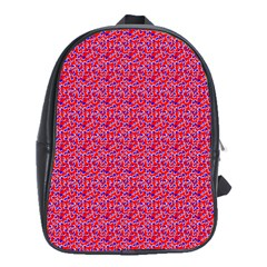 Red White And Blue Leopard Print  School Bags (xl)  by PhotoNOLA