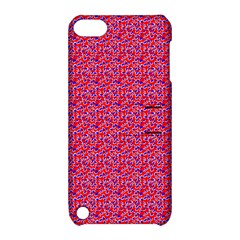 Red White And Blue Leopard Print  Apple Ipod Touch 5 Hardshell Case With Stand by PhotoNOLA