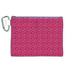 Red White And Blue Leopard Print  Canvas Cosmetic Bag (xl) by PhotoNOLA