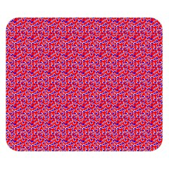 Red White And Blue Leopard Print  Double Sided Flano Blanket (small)  by PhotoNOLA