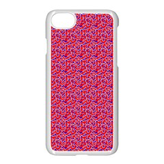 Red White And Blue Leopard Print  Apple Iphone 7 Seamless Case (white) by PhotoNOLA