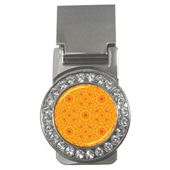 Solar Mandala  Orange Rangoli  Money Clip (cz) by bunart