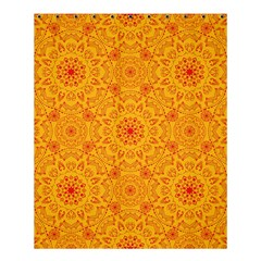 Solar Mandala  Orange Rangoli  Shower Curtain 60  X 72  (medium) by bunart