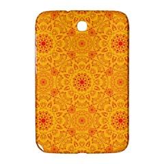 Solar Mandala  Orange Rangoli  Samsung Galaxy Note 8 0 N5100 Hardshell Case  by bunart