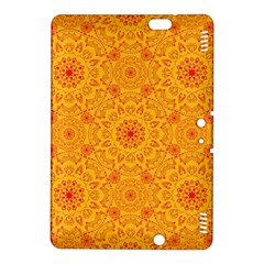 Solar Mandala  Orange Rangoli  Kindle Fire Hdx 8 9  Hardshell Case by bunart
