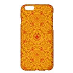 Solar Mandala  Orange Rangoli  Apple Iphone 6 Plus/6s Plus Hardshell Case by bunart