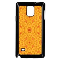 Solar Mandala  Orange Rangoli  Samsung Galaxy Note 4 Case (black) by bunart