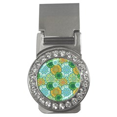 Forest Spirits  Green Mandalas  Money Clip (cz) by bunart