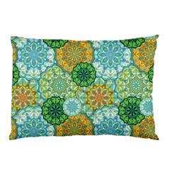 Forest Spirits  Green Mandalas  Pillow Case by bunart