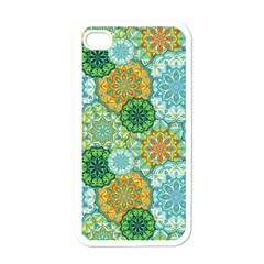 Forest Spirits  Green Mandalas  Apple Iphone 4 Case (white) by bunart